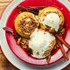 Baked apples with ice cream and oatmeal,sweet food - PhotoDune Item for Sale