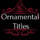 Ornamental Titles // Final Cut Pro - VideoHive Item for Sale