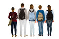 teenage students with backpack - PhotoDune Item for Sale