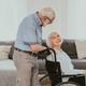 Senior couple, wife takes care of invalid husband - PhotoDune Item for Sale