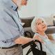 Senior couple, husband takes care of invalid wife - PhotoDune Item for Sale