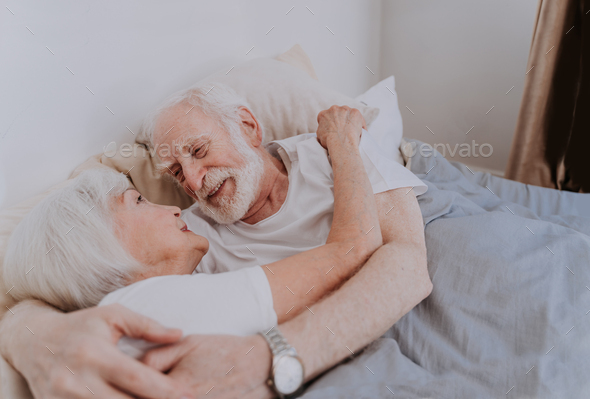 Elderly couple at home - Stock Photo - Images