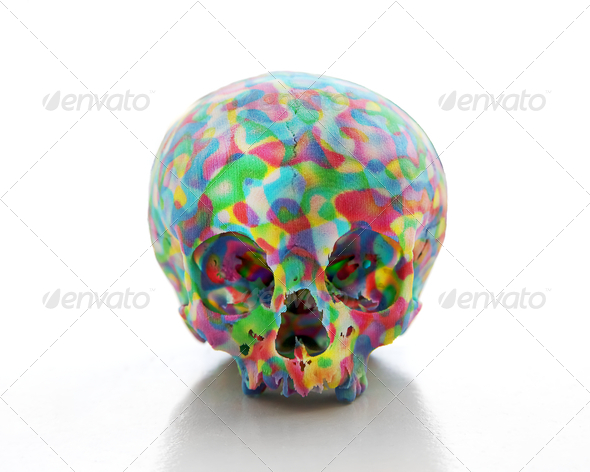 colored skull - Stock Photo - Images