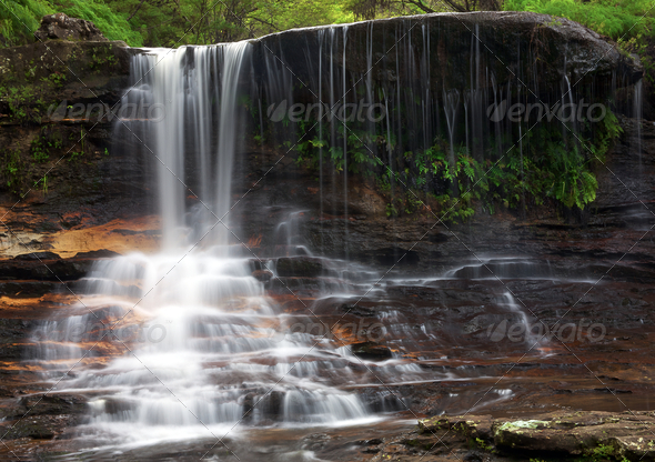 wentworth cascade - Stock Photo - Images