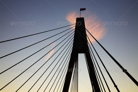 bridge at sunset - Stock Photo - Images