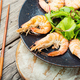 Boiled shrimp on a plate - PhotoDune Item for Sale