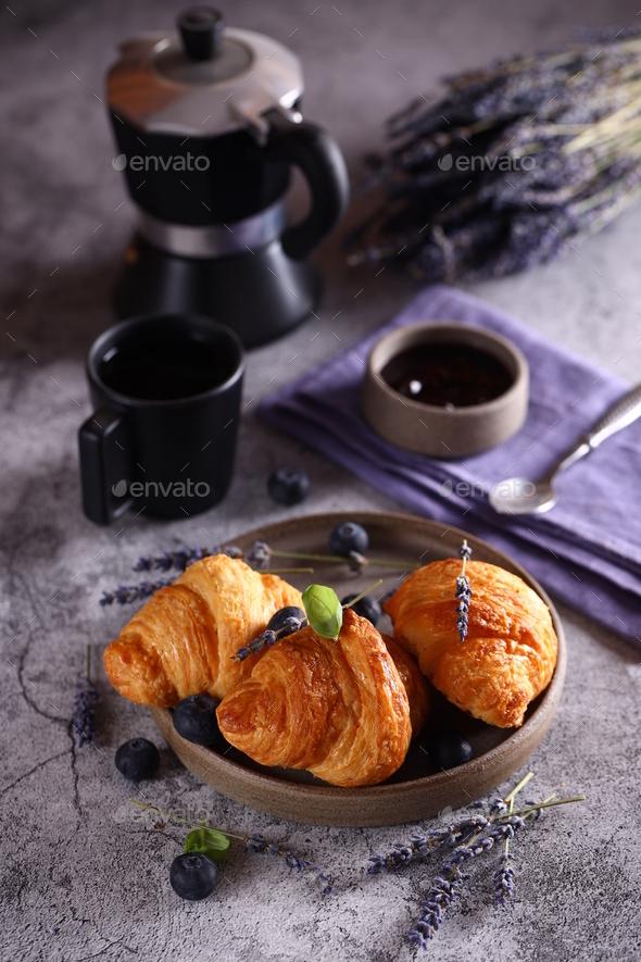 Fresh Croissants for Breakfast - Stock Photo - Images