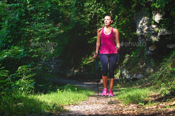 Nordic walking - Stock Photo - Images