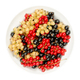 White, red and black currant berries, in a white bowl, from above - PhotoDune Item for Sale