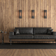 Wooden room with retro black sofa - PhotoDune Item for Sale