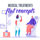 Medical treatments - Flat Concept - VideoHive Item for Sale
