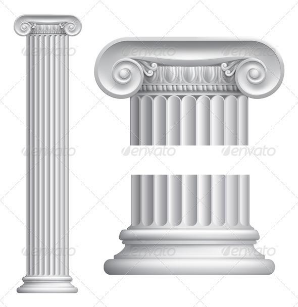 Ionic column - Objects Vectors