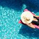Woman Sunbathing on Floating Mattress - PhotoDune Item for Sale