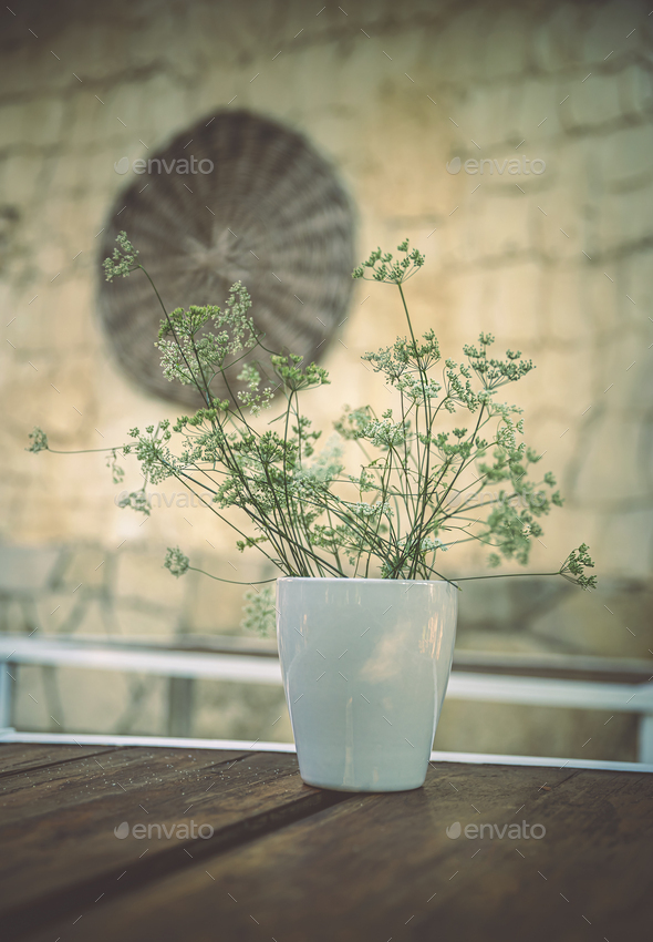 Beautiful Flower Pot - Stock Photo - Images