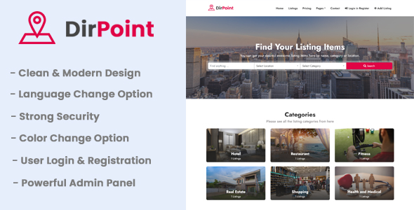 DirPoint - Ultimate Business Directory Listing CMS