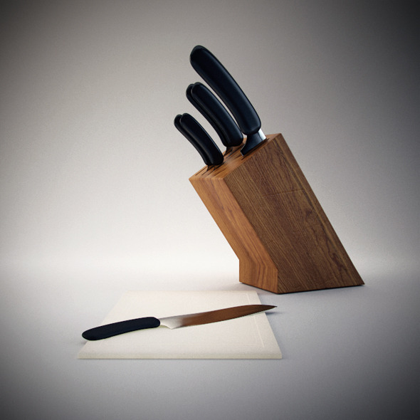 Knife Blocks & Sets - 3DOcean Item for Sale