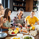Young group of friends preparing vegetable meal and making fun - PhotoDune Item for Sale