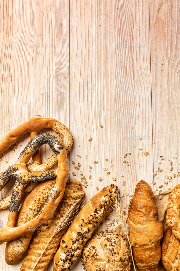 Delicious freshly baked bakery products - Stock Photo - Images