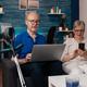 Senior family using modern technology devices - PhotoDune Item for Sale