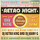 Retro Typography Party Flyer - GraphicRiver Item for Sale