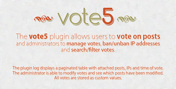 vote5 - Advanced WordPress Voting Plugin - CodeCanyon Item for Sale