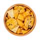 Senbei, Japanese rice crackers, crispy savory snacks, in wooden bowl - PhotoDune Item for Sale