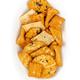 Senbei, Japanese rice crackers, crispy snacks, in a white oval bowl - PhotoDune Item for Sale