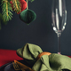 Christmas Table Setting with Spruce Branches in Deep Color Palette. - PhotoDune Item for Sale