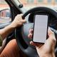 Driver using Smartphone in Car - PhotoDune Item for Sale