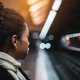 Biracial girl on the metro platform - PhotoDune Item for Sale
