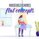 Household chores  - Flat Concept - VideoHive Item for Sale