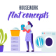 Housework - Flat Concept - VideoHive Item for Sale