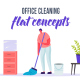 Office cleaning - Flat Concept - VideoHive Item for Sale
