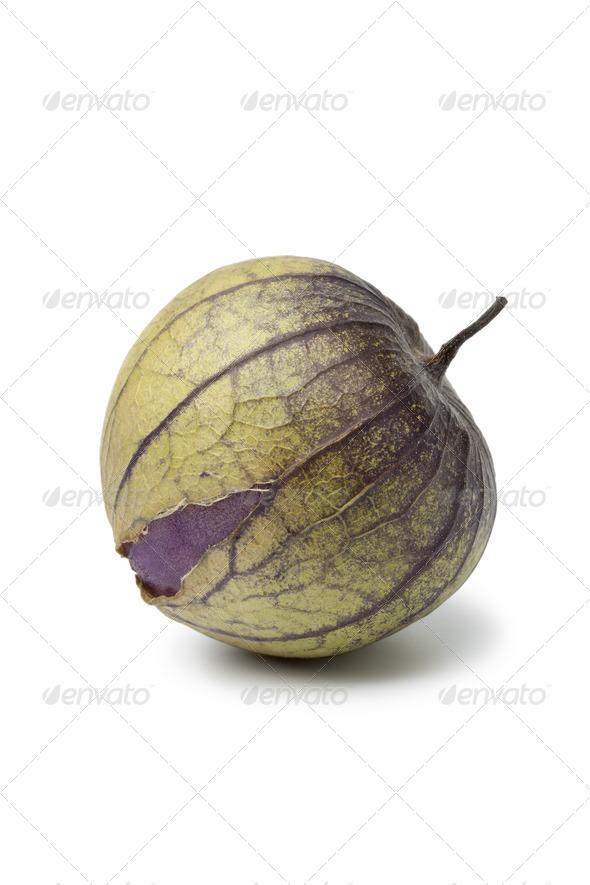Fresh purple tomatillo - Stock Photo - Images