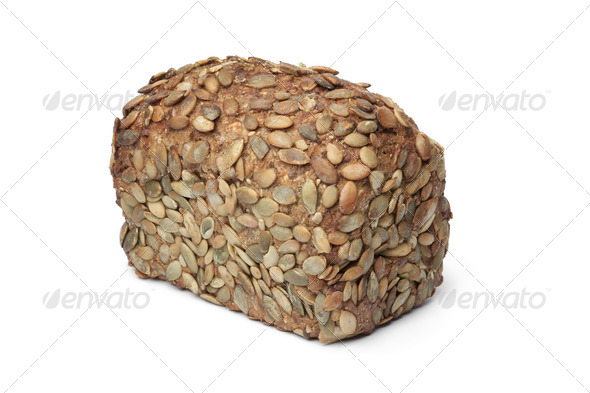 Whole loaf of Pumpkin seed bread - Stock Photo - Images