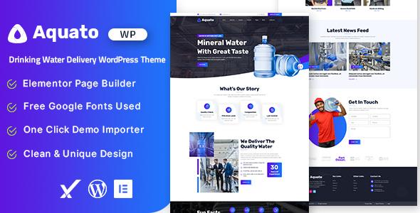 Aquato – Drinking Water Delivery WordPress Theme