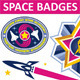 Space Badges & Labels - GraphicRiver Item for Sale