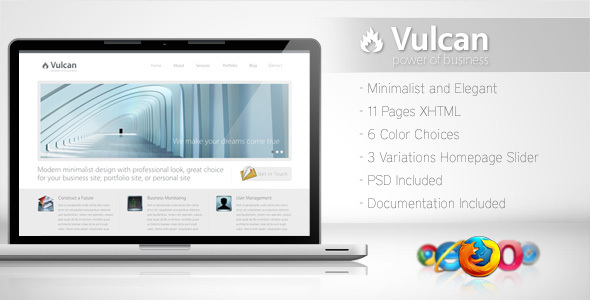 Vulcan – Minimalist Business Template 4