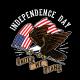 Eagle Illustration Of USA Independence Day