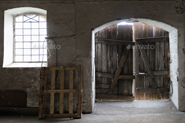 Inside of the old garnar - Stock Photo - Images