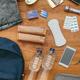 Aerial view of emergency backpack preparations - PhotoDune Item for Sale