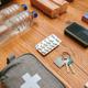 Essential items prepared for emergency backpack - PhotoDune Item for Sale