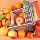 Paper shopping bag and fruits with vegetables - PhotoDune Item for Sale