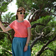 Woman in sunglasses near tree - PhotoDune Item for Sale