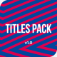 Ingenious Titles Pack | DaVinci Resolve - VideoHive Item for Sale