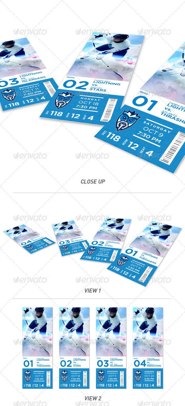 Dynamic Portfolio Event Ticket Mock-Up - Miscellaneous Print