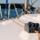 rope on the winch of a white yacht in the sea.yacht equipment - PhotoDune Item for Sale