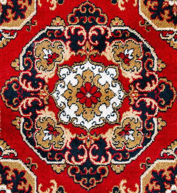 Red Oriental Carpet Texture Background - Stock Photo - Images