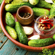 Homemade cucumber pickling and ingredients - PhotoDune Item for Sale