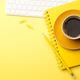 Freelancer desk yellow table - PhotoDune Item for Sale
